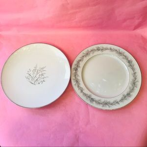 Two vintage fine china large dishes